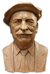 Bust in tribute to a man, Sculptor in Barcelona