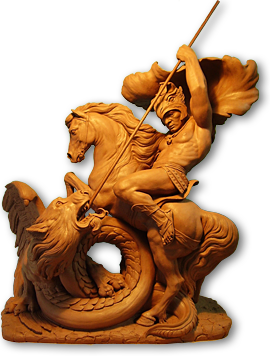 artistic sculptures in clay (terracotta)